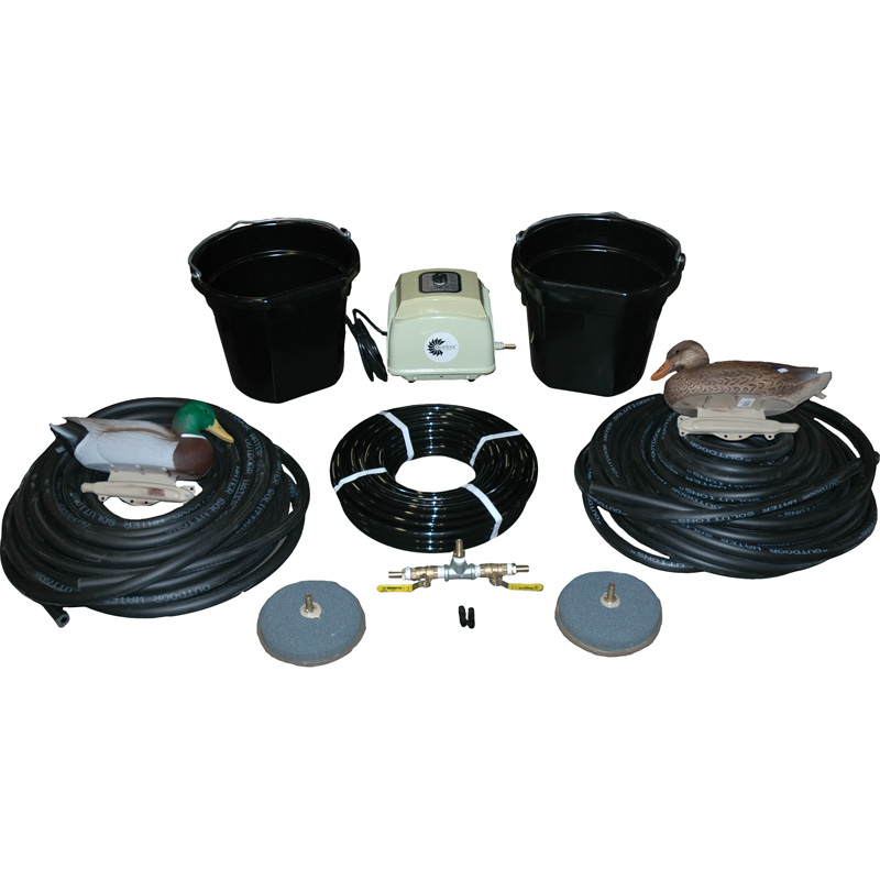 Complete Aeration System Includes Air Pump 2 Diffusers Weighted Hose And Accessories