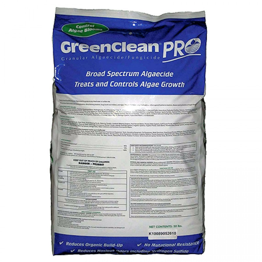 Green clean pro granular algaecide for ponds walkways for Professional pond cleaners