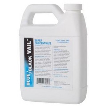 Concentrated Liquid Lake Dye - Black Vail® & Blue Vail® - 6 Jugs Bulk Buy