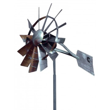 25' Single Pole Windmill Aeration System - Free Shipping in the USA