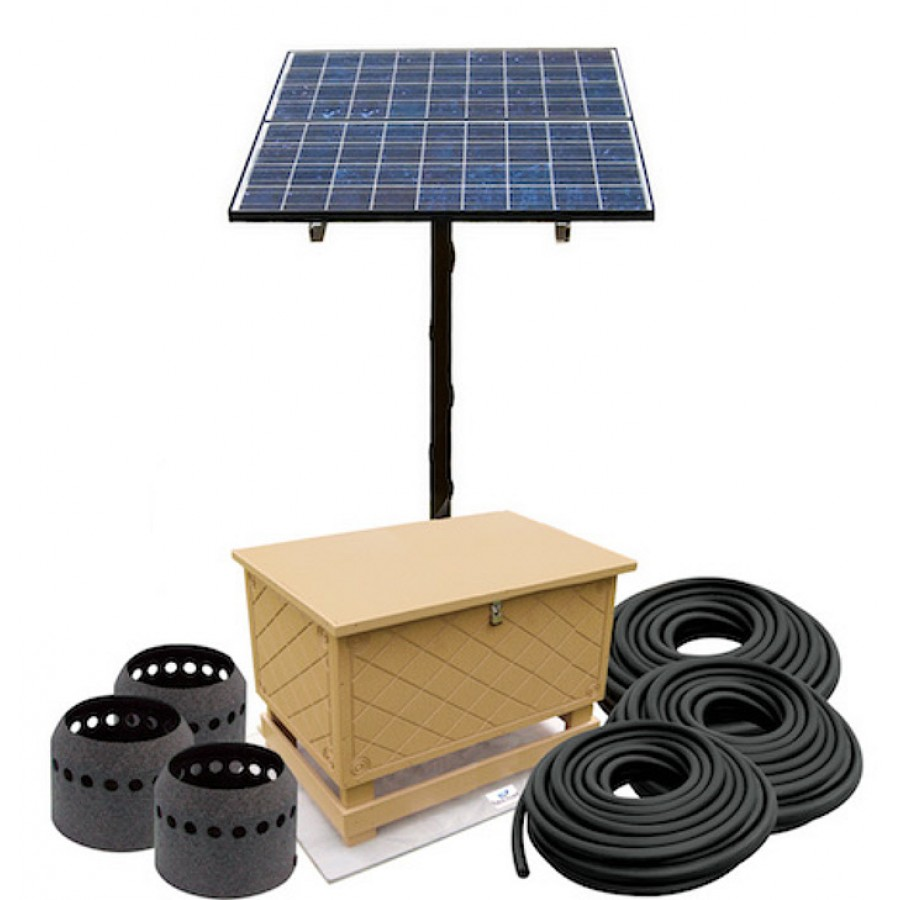 Solar aeration systems for large pond lakes for Large pond pumps